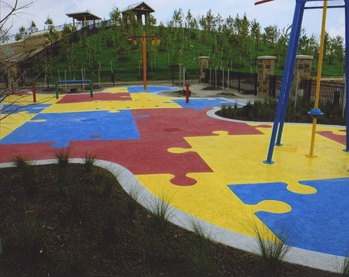 Classic Texture Puzzle Houston Texas Splash Pads & Waterparks SUNDEK Houston