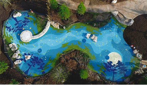 Sawmill Lake Rec Ctr In Missouri City Tx Splash Pads & Waterparks SUNDEK Houston
