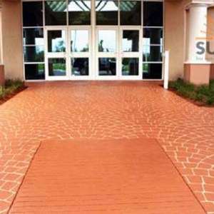 Stamped Overlay Commercial Driveway Resurfacing