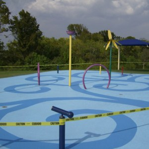 Water park and splash pad coating system by Sundek