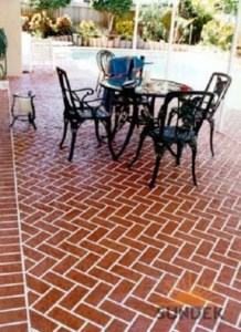 brick stamped concrete