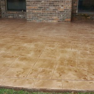 Residential Patio with Stamped Overlay System