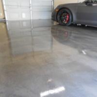 Residential Garage with Metallic Epoxy Coating