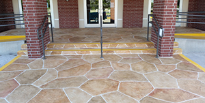 stamped concrete entry