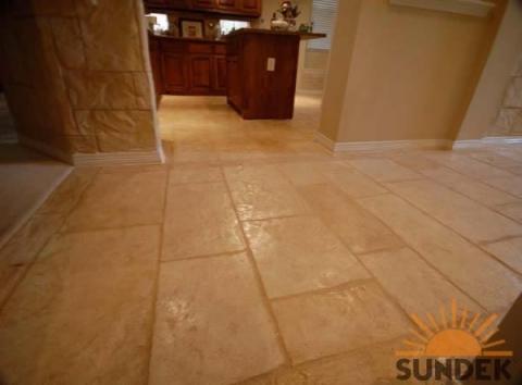 indoor stamped concrete floor